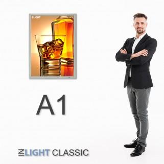 ФРЕЙМЛАЙТ А1 INLIGHT CLASSIC ОДНОСТОРОННИЙ НАСТЕННЫЙ | световая панель в алюминиевой клик-рамке