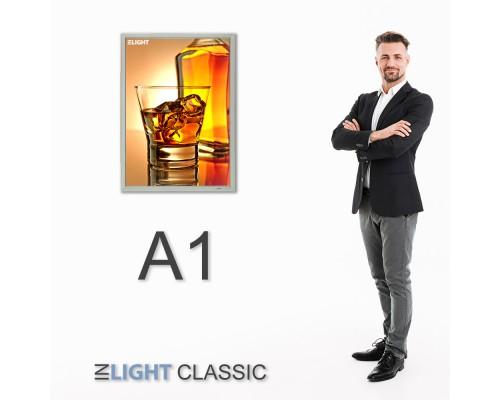 Фреймлайт настенный А1 CLASSIC, клик-рамка, 891*644*20mm
