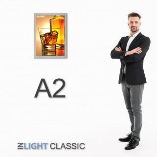 ФРЕЙМЛАЙТ А2 INLIGHT CLASSIC ОДНОСТОРОННИЙ НАСТЕННЫЙ | световая панель в алюминиевой клик-рамке