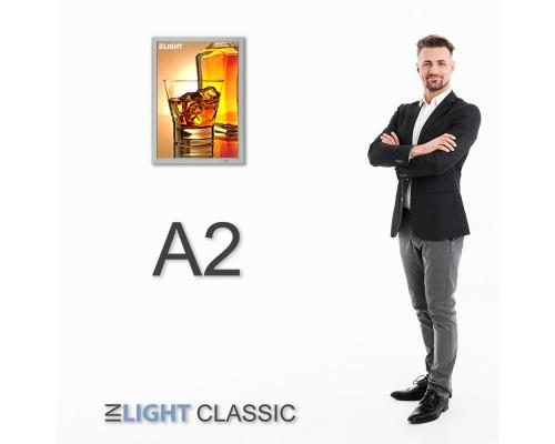 Фреймлайт настенный А2 CLASSIC, клик-рамка 644*470*20mm