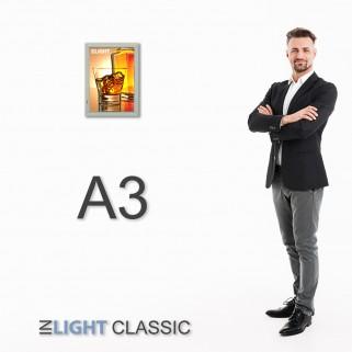 ФРЕЙМЛАЙТ А3 INLIGHT CLASSIC ОДНОСТОРОННИЙ НАСТЕННЫЙ   световая панель в алюминиевой клик-рамке