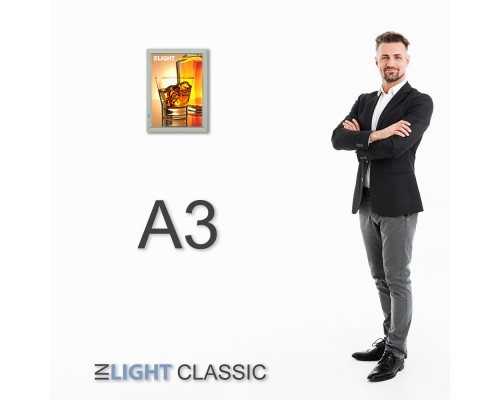 Фреймлайт настенный А3 CLASSIC, клик-рамка, 470*347*17