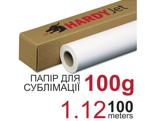 Бумага сублимационная HARDYJet Sublimation Paper 100г рулон 1,12м*100м