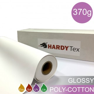 370g ХОЛСТ POLY COTTON GLOSSY. Натуральный хлопковый холст для печати