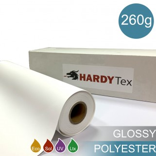 260g ХОЛСТ POLYESTER GLOSSY Полиэстеровый глянцевый холст для печати.