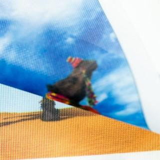 230g Флажная ткань с подложкой для сольвентной печати