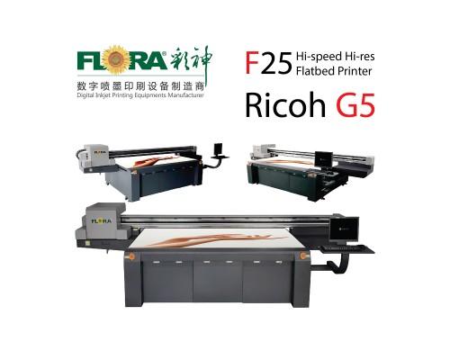 Планшетный широкоформатный УФ-принтер FLORA F25 Ricoh G5