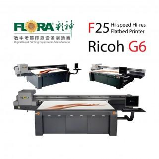 Планшетный широкоформатный УФ-принтер FLORA F25 Ricoh G6