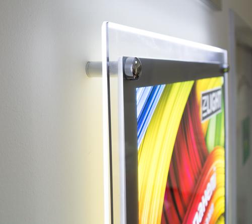 тонкие световые панели (лайтиксы, фреймлайты) Crystal с торцевой LED подсветкой Inlight (zilight z-light raygler)