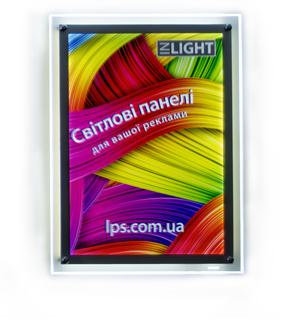 Crystal Raygler Кристалайт Inlight - световые панели на подвесных тросах со светящейся прозрачной рамкой по периметру